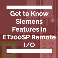 Siemens Features in Remote I/O